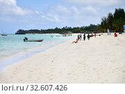 Zanzibar, Tanzania, Africa. Kendwa beach (2019 год). Редакционное фото, фотограф Знаменский Олег / Фотобанк Лори