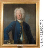 Attributed to Johan Henrik Scheffel, Karl Cronstedt, 1672-1750, painting, Oil on canvas, Height, 79 cm (31.1 inches), Width, 65 cm (25.5 inches) (2019 год). Редакционное фото, фотограф ARTOKOLORO QUINT LOX LIMITED / age Fotostock / Фотобанк Лори