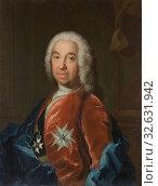 Attributed to Johan Henrik Scheffel, Leonard Klinckowström, 1685-1759, painting, portrait, Leonard von Klinckowström, 1755, oil on canvas, Height, 79 cm (31.1 inches), Width, 65 cm (25.5 inches) (2019 год). Редакционное фото, фотограф ARTOKOLORO QUINT LOX LIMITED / age Fotostock / Фотобанк Лори
