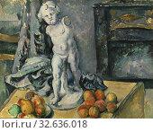 Купить «Paul Cézanne, Still Life with Plaster Cupid English, Still Life with Statuette, Still Life with figurine, painting, still life, 1890s, Oil on canvas, Glazed...», фото № 32636018, снято 16 июля 2019 г. (c) age Fotostock / Фотобанк Лори