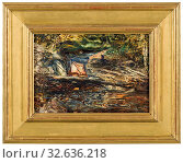 Купить «Ernst Josephson, Landscape with Stream, Swedish Landscape, painting, landscape art, 1884, oil on panel, Height, 24 cm (9.4 inches), Width, 33 cm (12.9 inches), Signed, à, A. Ernst Josephson -84.», фото № 32636218, снято 16 июля 2019 г. (c) age Fotostock / Фотобанк Лори