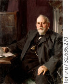 Anders Zorn, Frans R. Heiss, Mr. Frans R. Heiss, Director Frans R. Heiss, painting, 1891, oil on canvas, Height, 120 cm (47.2 inches), Width, 90 cm (35.4 inches), Signed, Zorn 1891 (2019 год). Редакционное фото, фотограф ARTOKOLORO QUINT LOX LIMITED / age Fotostock / Фотобанк Лори
