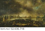 Купить «Per Krafft the Younger, The Storming of Leipzig, Storming of Leipzig, painting, 1818, oil on canvas, Height, 198 cm (77.9 inches), Width, 322 cm (10.5 ft), Signed, P, Krafft, Stockholm D. 18î8.», фото № 32636718, снято 16 июля 2019 г. (c) age Fotostock / Фотобанк Лори