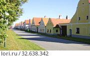 Купить «Traditional central european village of Holasovice. Czech Republic», видеоролик № 32638342, снято 14 июля 2020 г. (c) Яков Филимонов / Фотобанк Лори