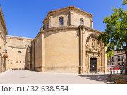 Купить «Лагуардия, Испания. Средневековая церковь San Juan», фото № 32638554, снято 23 июня 2017 г. (c) Rokhin Valery / Фотобанк Лори