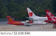 Купить «Private airplane towing in Phuket airport», видеоролик № 32638846, снято 27 ноября 2019 г. (c) Игорь Жоров / Фотобанк Лори
