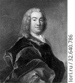 Johan Henrik Scheffel, Johan Råfelt, 1712-1763, painting, 1753, Oil, Height, 80 cm (31.4 inches), Width, 66 cm (25.9 inches), Signed (2019 год). Редакционное фото, фотограф ARTOKOLORO QUINT LOX LIMITED / age Fotostock / Фотобанк Лори