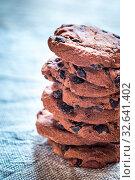 Купить «Chocolate chip cookies», фото № 32641402, снято 14 декабря 2019 г. (c) age Fotostock / Фотобанк Лори