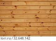 Coniferous wooden wall. Beautiful natural horizontal background. Стоковое фото, фотограф Сергей Трофименко / Фотобанк Лори