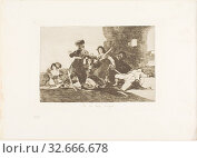 There isn't Time Now, plate 19 from The Disasters of War, 1810/12, published 1863, Francisco José de Goya y Lucientes, Spanish, 1746-1828, Spain, Etching... Редакционное фото, фотограф ARTOKOLORO QUINT LOX LIMITED / age Fotostock / Фотобанк Лори