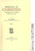 Купить «Memorials of Christie's, a record of art sales from 1766 to 1896 : Roberts, William, 1862-», фото № 32677086, снято 3 июня 2020 г. (c) age Fotostock / Фотобанк Лори
