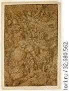 Купить «Cupid in Triumphal Chariot, Accompanied by Gods and Goddesses, n.d., Follower of Giulio Pippi, called Giulio Romano, Italian, c. 1499-1546, Italy, Pen...», фото № 32680562, снято 5 июня 2020 г. (c) age Fotostock / Фотобанк Лори