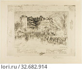 Купить «The Place des Martyrs and the Jailhouse Tavern, 1885, Félix Hilaire Buhot, French, 1847-1898, France, Soft ground etching on paper, 340 × 449 mm (plate), 533 × 420 mm (sheet)», фото № 32682914, снято 12 июля 2020 г. (c) age Fotostock / Фотобанк Лори