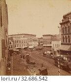 Arab Corner Grand Rapids Mich./Old Grab Corners from the Rathbon House, Schuyler C. Baldwin (American, 1822 - 1900), about 1884, Albumen silver print (2019 год). Редакционное фото, фотограф ARTOKOLORO QUINT LOX LIMITED / age Fotostock / Фотобанк Лори