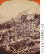 Купить «The Johnstown Calamity. Wreck of the Day Express - P.R.R. at Conemaugh., George Barker (American, 1844 - 1894), 1889, Albumen silver print», фото № 32690382, снято 17 июня 2019 г. (c) age Fotostock / Фотобанк Лори