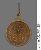 Купить «Astrolabe, Qajar dynasty (1796–1925), 18th century, with later additions, Iran, Isfahan, Iran, Brass with pierced and engraved decoration, 25.2 × 18.5 × 3 cm (9 15/16 × 7 1/4 × 1 3/16 in.)», фото № 32701294, снято 24 мая 2020 г. (c) age Fotostock / Фотобанк Лори