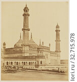 Mosque inside Asaf-ud Dawlah's Emambara or Tomb, Now Used as a Hospital, Lucknow, Felice Beato (English, born Italy, 1832 - 1909), India, 1858, Albumen... (2019 год). Редакционное фото, фотограф ARTOKOLORO QUINT LOX LIMITED / age Fotostock / Фотобанк Лори