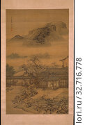 Spring Arriving in the Han Palace, Qing dynasty (1644–1911), 1717, Yuan Jiang, Chinese, active c. 1690–1724, China, Hanging scroll, ink and slight color on silk, 65 × 39 in. (165 × 99 cm). Редакционное фото, фотограф ARTOKOLORO QUINT LOX LIMITED / age Fotostock / Фотобанк Лори
