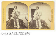 Shee-zah-nan-tan, Jicarilla Apache Brave in characteristic Costume, Northern New Mexico, 1874, Timothy O'Sullivan (American, born Ireland, 1840–1882),... Редакционное фото, фотограф ARTOKOLORO QUINT LOX LIMITED / age Fotostock / Фотобанк Лори