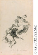 Dream of Flogging, 1801/03, Francisco José de Goya y Lucientes, Spanish, 1746-1828, Spain, Black watercolor on ivory, moderately textured laid paper with partial watermark., 233 x 143 mm. Редакционное фото, фотограф ARTOKOLORO QUINT LOX LIMITED / age Fotostock / Фотобанк Лори