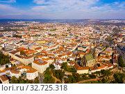 Купить «View from drone of Brno», фото № 32725318, снято 15 октября 2019 г. (c) Яков Филимонов / Фотобанк Лори