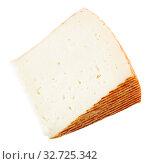 Купить «Piece of fresh semi-soft cheese», фото № 32725342, снято 27 февраля 2020 г. (c) Яков Филимонов / Фотобанк Лори