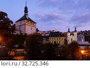 Karlovy Vary at twilight. Стоковое фото, фотограф Яков Филимонов / Фотобанк Лори