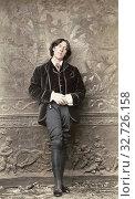 Купить «Oscar Wilde, 1854 - 1900. Irish poet and playwright. After a photogaph made in the early 1880's by American photographer Napoleon Sarony.», фото № 32726158, снято 7 июля 2019 г. (c) age Fotostock / Фотобанк Лори