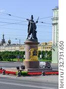Купить «Санкт-Петербург. Вид на памятник А.В. Суворову.», фото № 32731650, снято 10 августа 2016 г. (c) Геннадий Соловьев / Фотобанк Лори