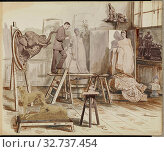 Купить «A Sculptor's Studio, Unknown maker, British, England, 1880s–1890s, Albumen silver print/ Collodion print, Page: 30.6 × 36.6 cm (12 1/16 × 14 7/16 in.)», фото № 32737454, снято 17 июня 2019 г. (c) age Fotostock / Фотобанк Лори