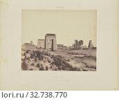Karnak (Thèbes). Vue Générale des Ruines prise du Point B, Félix Teynard (French, 1817 - 1892), Egypt, negative 1851 - 1852, print 1853, Salted paper print, 24.8 × 30.7 cm (9 3/4 × 12 1/16 in.) (2019 год). Редакционное фото, фотограф ARTOKOLORO QUINT LOX LIMITED / age Fotostock / Фотобанк Лори
