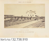Купить «Station de Moret, Vue Prise de la Bifurcation, Auguste Hippolyte Collard (French, 1812 - 1885/1897), Paris, France, 1860–1863, Albumen silver print, 18.4 × 31.3 cm (7 1/4 × 12 5/16 in.)», фото № 32738910, снято 17 июня 2019 г. (c) age Fotostock / Фотобанк Лори