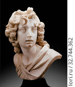 Bust of a Youth (Saint John the Baptist?), 1630/40, Francesco Mochi, Italian, 1580-1654, Italy, Marble, on variegated black marble socle, 40.5 × 33 × 29 cm (15 7/8 × 13 × 11 3/8 in.) Редакционное фото, фотограф ARTOKOLORO QUINT LOX LIMITED / age Fotostock / Фотобанк Лори