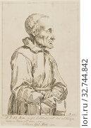 Portrait of Sebastiano Resta, 1738, Pier Leone Ghezzi, Italian, 1674-1755, Italy, Etching on paper, 279 x 178 mm (2019 год). Редакционное фото, фотограф ARTOKOLORO QUINT LOX LIMITED / age Fotostock / Фотобанк Лори