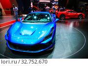 Купить «Ferrari F8 Tributo», фото № 32752670, снято 10 марта 2019 г. (c) Art Konovalov / Фотобанк Лори