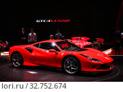 Ferrari F8 Tributo (2019 год). Редакционное фото, фотограф Art Konovalov / Фотобанк Лори
