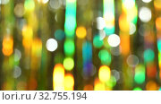 Magic abstract shiny background with colored defocused bokeh. Beautiful dynamic background in shining lights and sparkling particles. Festive mood. Christmas or holiday theme. Стоковое видео, видеограф Dmitry Domashenko / Фотобанк Лори
