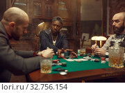 Купить «Poker players at gaming table with bets, casino», фото № 32756154, снято 8 декабря 2019 г. (c) Tryapitsyn Sergiy / Фотобанк Лори