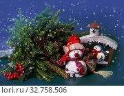 Купить «Christmas decorations for winter holidays», фото № 32758506, снято 31 декабря 2015 г. (c) ElenArt / Фотобанк Лори