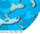Купить «Lebanon in red on blue political globe. 3D illustration.», фото № 32759178, снято 23 февраля 2020 г. (c) easy Fotostock / Фотобанк Лори