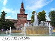 Sempione Park in Milan, Italy. Стоковое фото, фотограф Andrés Membrive Martínez / easy Fotostock / Фотобанк Лори