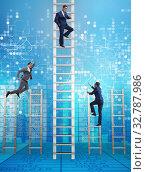 Купить «Competition concept with businessman beating competitors», фото № 32787986, снято 3 июля 2020 г. (c) Elnur / Фотобанк Лори