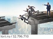 Купить «Boss businessman giving wrong instruction to team», фото № 32796710, снято 28 января 2020 г. (c) Elnur / Фотобанк Лори