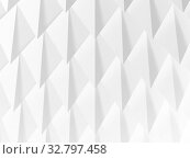 Abstract white geometric structure, cg background 3 d. Стоковая иллюстрация, иллюстратор EugeneSergeev / Фотобанк Лори