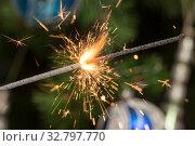 Купить «Sparks of fireworks», фото № 32797770, снято 29 декабря 2019 г. (c) Argument / Фотобанк Лори