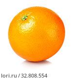 Fresh orange isolated on white background. Стоковое фото, фотограф Zoonar.com/Jacek Fulawka / easy Fotostock / Фотобанк Лори