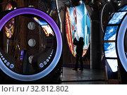 Москва, утро Нового Года 2020, световые аттракционы. Редакционное фото, фотограф Дмитрий Неумоин / Фотобанк Лори