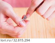 Купить «Beauty products nail care tools pedicure closeup», фото № 32815294, снято 31 мая 2017 г. (c) Elnur / Фотобанк Лори