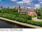 Купить «Калининград, вид сверху на остров Кнайпхоф и кафедральный собор», фото № 32816226, снято 20 мая 2011 г. (c) glokaya_kuzdra / Фотобанк Лори