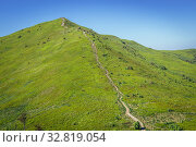 Path to Halicz peak in the Bieszczady Mountains in southern Poland. Стоковое фото, фотограф Konrad Zelazowski / easy Fotostock / Фотобанк Лори